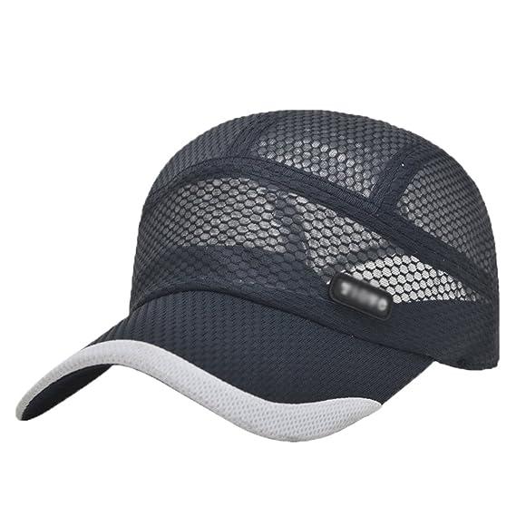 LINNUO Sombrero de Gorra de Béisbol de Secado Rápido Hombres Mujeres Sombrero de Sol Ajustable Gorra de Running Golf Deportes Cap t1l4xY8oi0