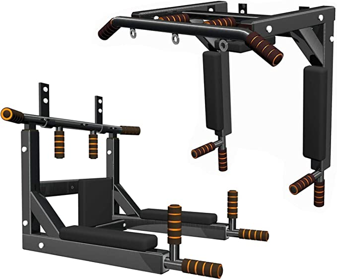 Max Strength barra de dominadas para dominadas, montaje en la pared, parte superior del cuerpo, entrenamiento, gimnasio en casa, TRX, soporte de ...