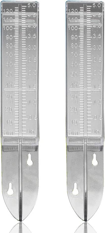 Plastic Rain Gauge-Home Clear Rain Water Meter for Lawn Yard Garden Outdoor Home Pack of 2