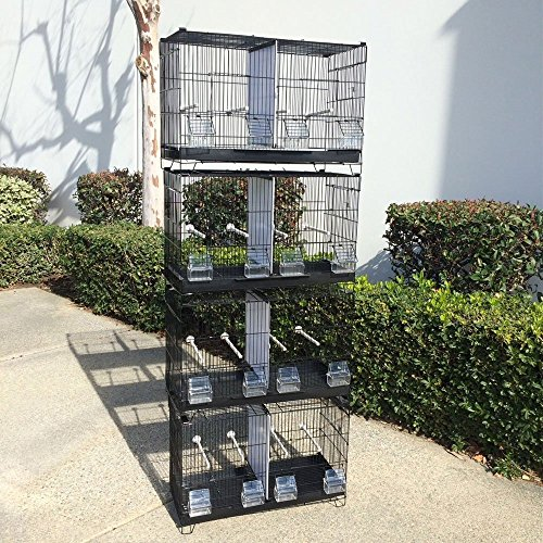 Mcage NEW 4 of Stack and Lock Double Breeder Cage Bird Breeding Cage With Removable Dividers And Breeder Doors 4 Of 23.5