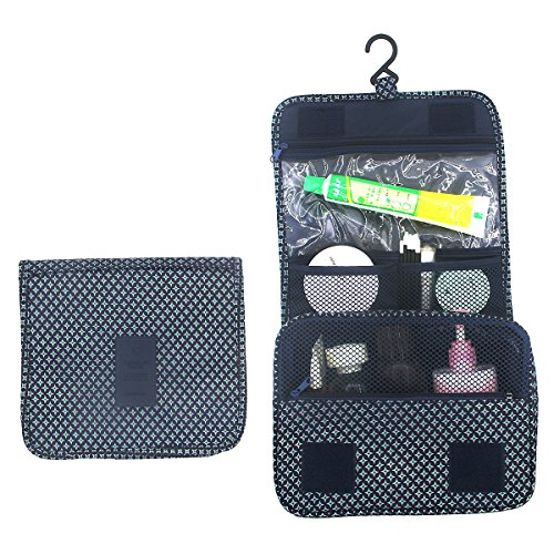 Itraveller Hanging Toiletry Bag-Portable Travel Organizer Cosmetic Make up Bag case for Women Men Shaving Kit with Hanging Hook for vacation