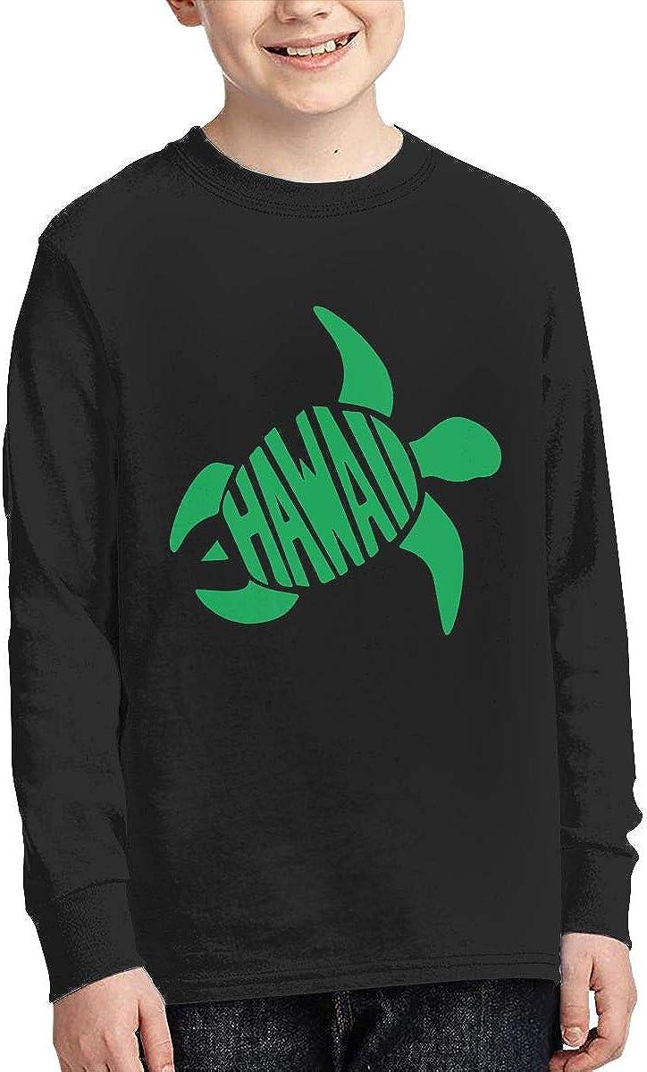 Teenagers Teen Girls Hawaiian Sea Turtle Printed Long Sleeve 100/% Cotton T-Shirts