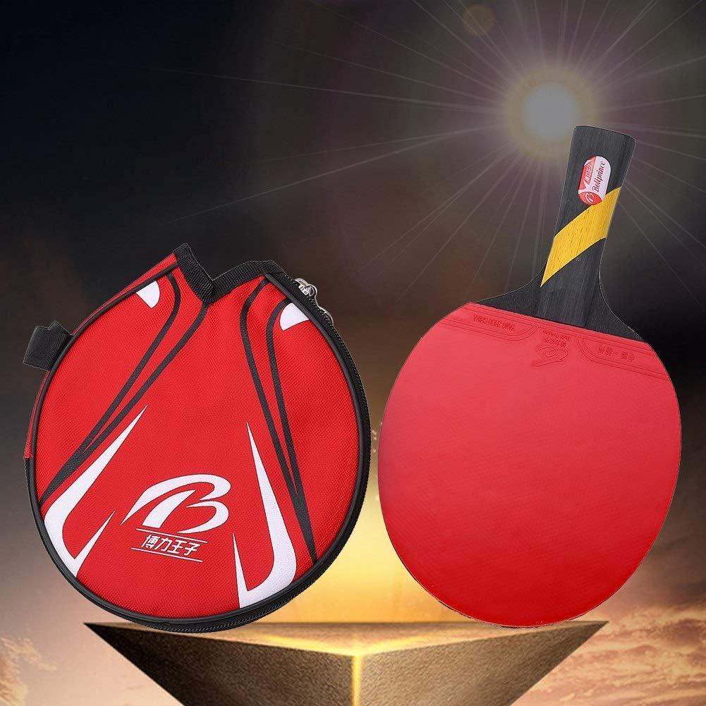 Wolfgo Raqueta de Tenis de Mesa Ping Pong Paddle-Boliprince Ping Pong Bat for Jugadores con empuñadura