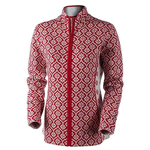 Obermeyer Women's Jenny Knit Cardigan Crimson (Obermeyer Red Sweater)
