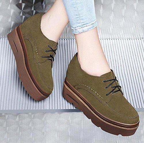 nei pesante singola scarpe fondo Flats scarpa green aumentato Ms stringata comparti Sciocchezza Spring qwZTIx5q