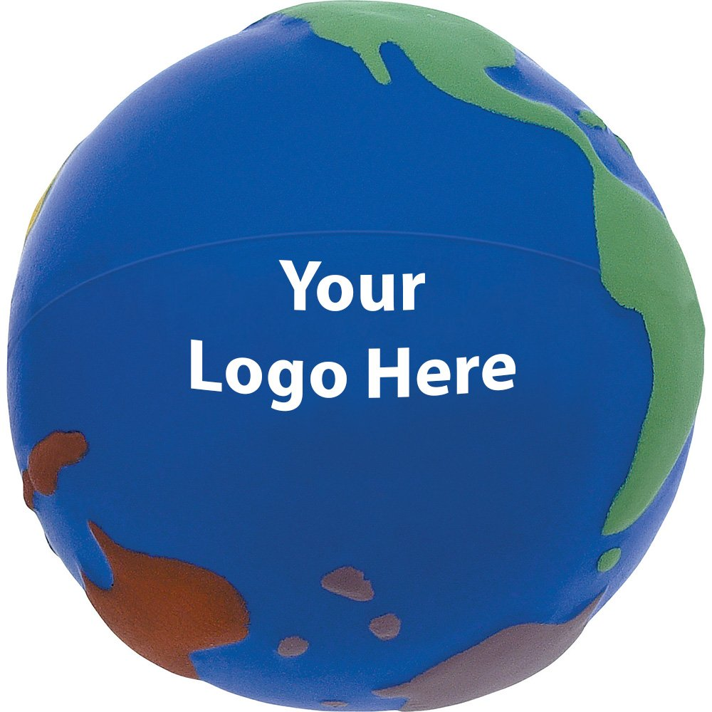 World - In - Color Stress Reliever - 300 Quantity - $1.15 Each - PROMOTIONAL PRODUCT / BULK / BRANDED with YOUR LOGO / CUSTOMIZED