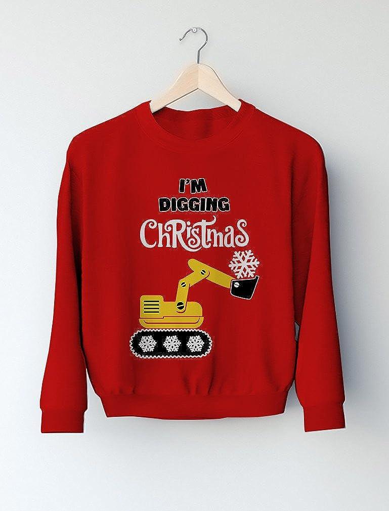 Tstars Im Digging Christmas Kids Gift Snow Plough Tractor Toddler//Kids Sweatshirt