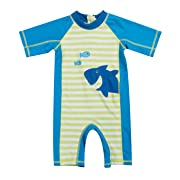 beautyin Baby Toddler Long-Sleeve One Piece Swimsuit Printed Rash Guards for Boys