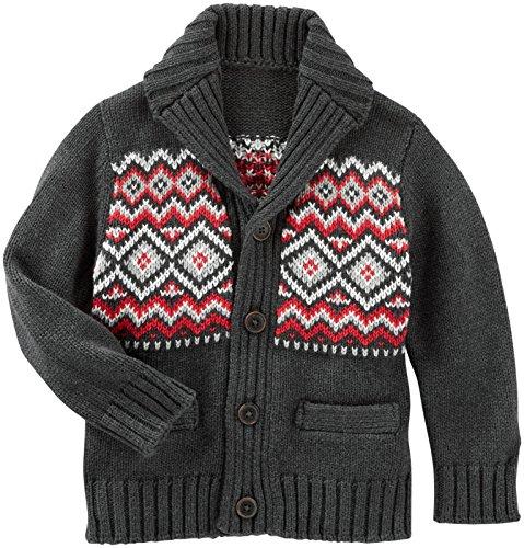 OshKosh B'Gosh Boys' Sweater 21489010, Heather, 3T