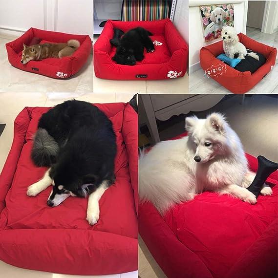 YNZYOG Nido De Gato Cama para Mascotas Perrera Almohadilla para Dormir Pelo Antiadherente Nylon Algodón PP Impermeable (Color : Red, Tamaño : XXL): ...