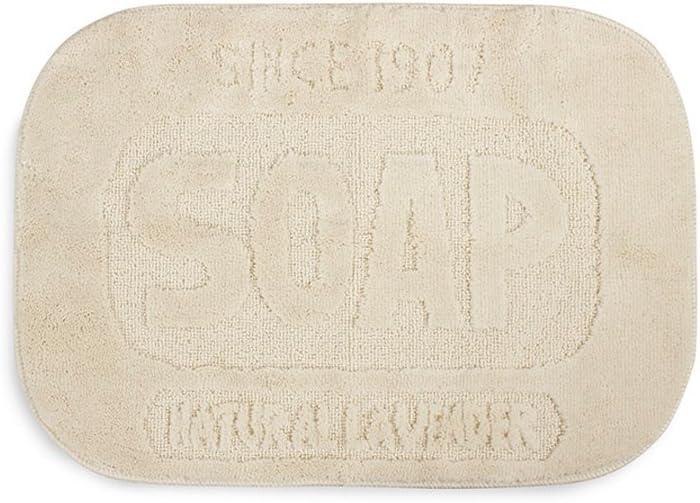 Balvi Alfombra baño Soap Color Beige Original Alfombra Ducha en Forma de Pastilla de jabón Estilo Vintage Polipropileno 50x70x1,2 cm