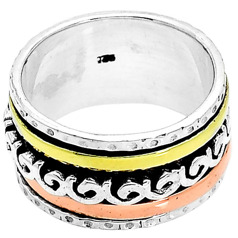 Desiregem Anti Anxiety and Worry Less Spinner Ring Spinning Size DGR1018 8.5