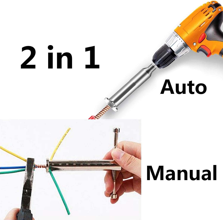 Allegorly Pince torsad/ée pour d/énuder les fils de d/énudage d/électricien et c/âble torsad/é pour perceuse /électrique et connecter manuellement plusieurs fils. argent