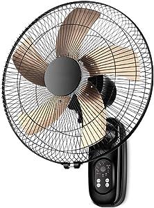 Wall fan Ventilador de Pared con Control Remoto Inteligente de 16 Pulgadas, Ventilador portátil de Alta Potencia para el hogar, Ventilador Industrial silencioso Que Ahorra energía
