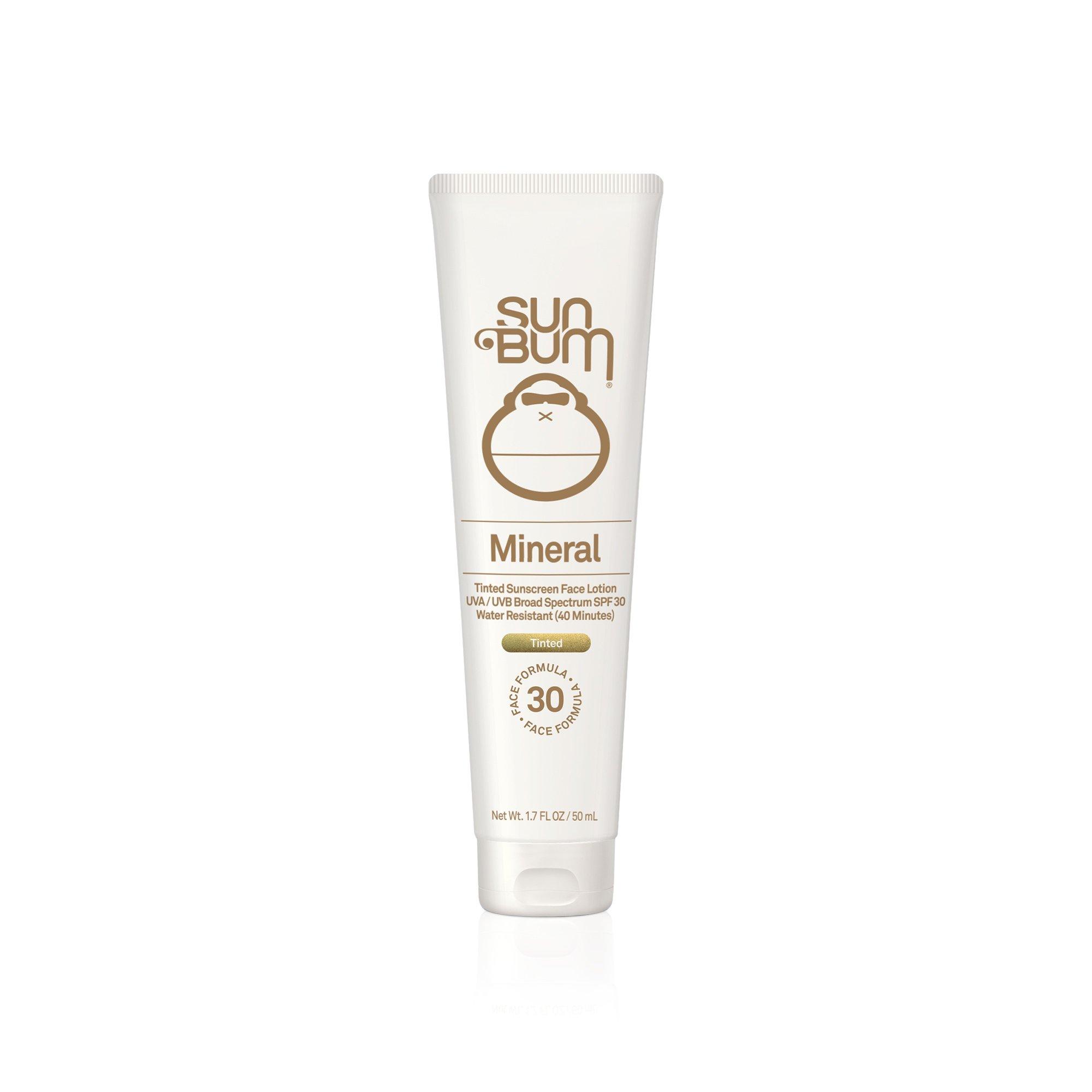 Sun Bum Mineral Sunscreen Tinted Face Lotion SPF 30 | Reef Friendly Broad Spectrum UVA/UVB Protection | Natural Zinc Sun Block|  Hypoallergenic, Paraben Free, Gluten Free, Vegan | 1.7 OZ Bottle by Sun Bum