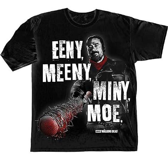 Amazon.com: The Walking Dead Negan Eeny Meeny Miny Moe T-Shirt ...