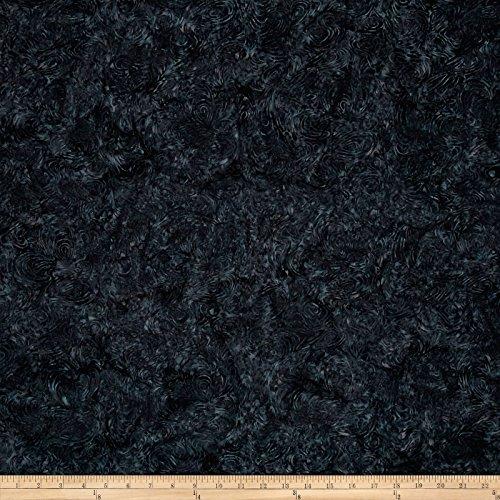 Batik Cotton Blenders Marble Charcoal Fabric By The (Black Batik Fabric)