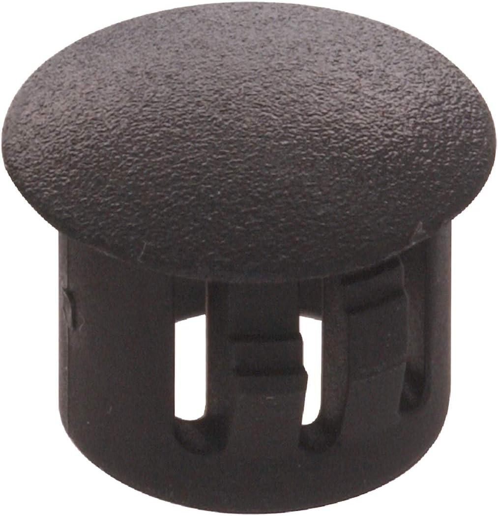 The Hillman Group 58128 3/8-Inch Black Nylon Hole Plug, 20-Pack