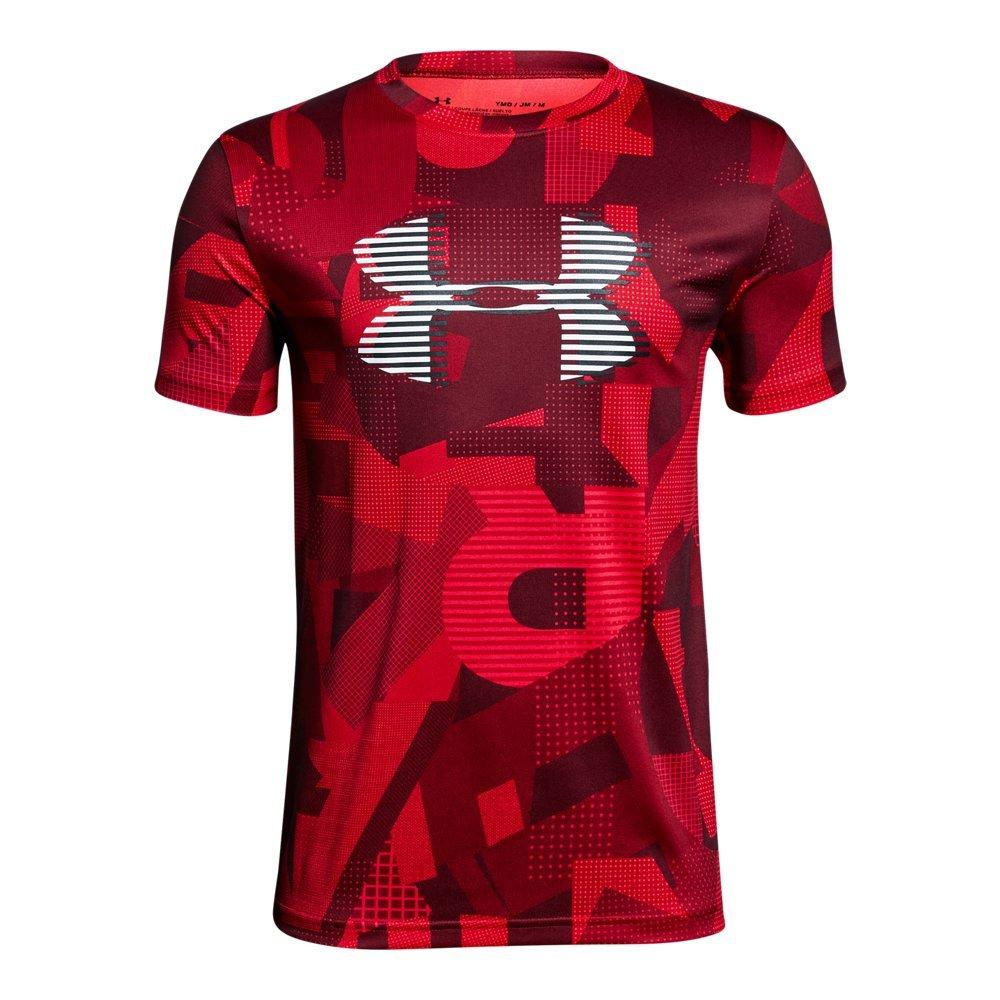 Under Armour Boys' Tech Big Logo Printed T-Shirt, Red (600)/White, Youth Medium