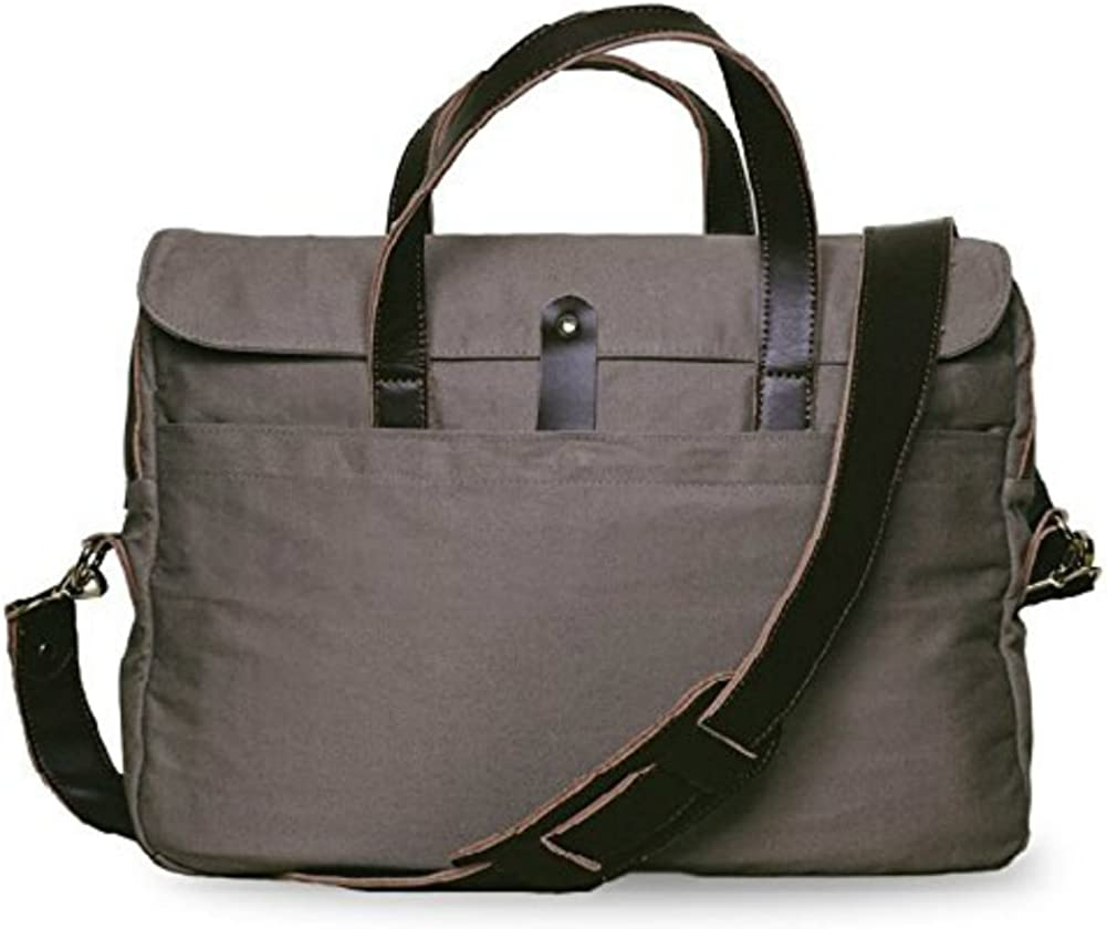 Wiley Gear Twill and Genuine Leather Computer Briefcase