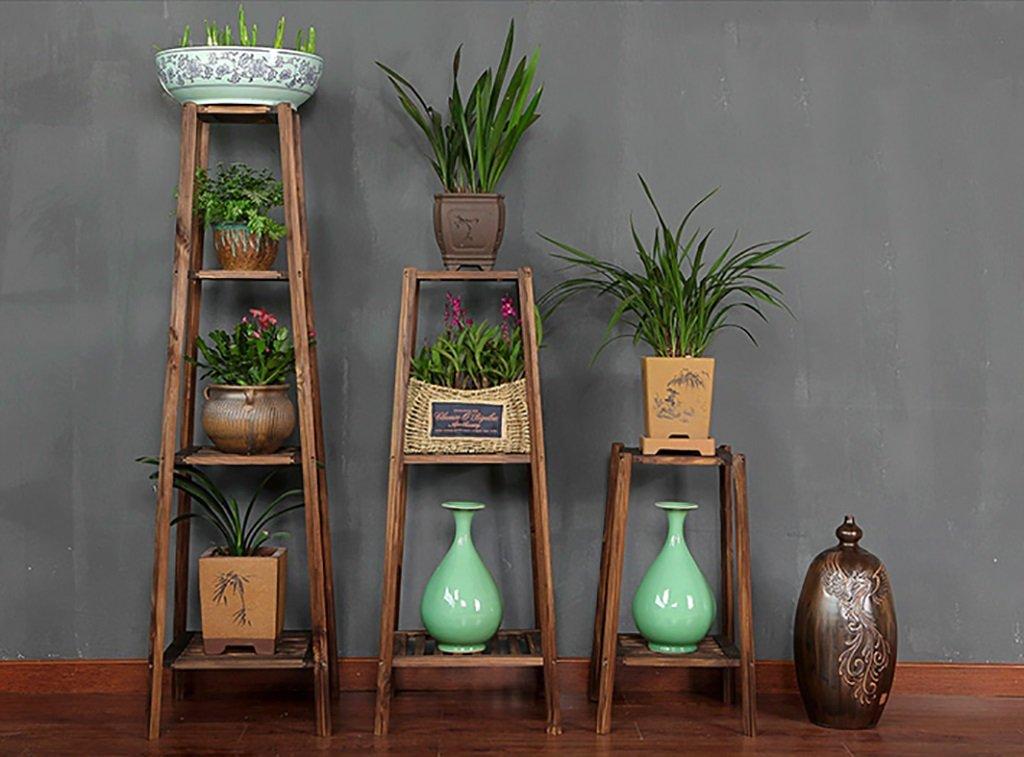 Cremagliere di fiori Vetrina in legno di fiori di pianta Scaffale di legno di scaffale di scaffale Outdoor Indoor Flowerpot Shelf (selezione di più dimensioni) Mensola di pianta ( colore   D )