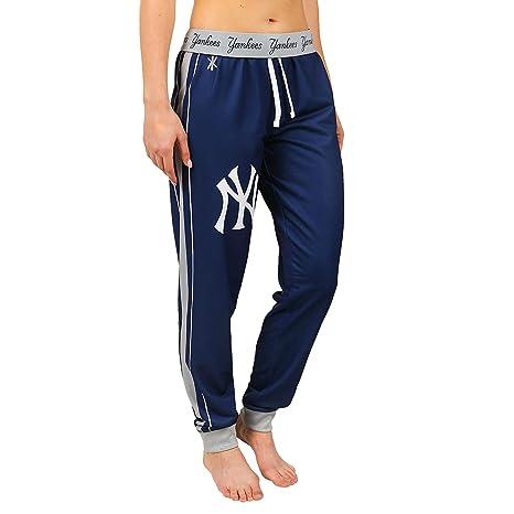 85e8a5ab Amazon.com : New York Yankees MLB Womens Cuffed Jogger Pants, Navy ...