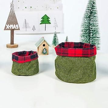 htfrgeds 2Pcs Bolsas de Dulces navideñas de Gran tamaño ...