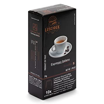 LUSCIOUX Sonetto - Nespresso Compatible Coffee Capsules | Pack of 10 [Total 100 capsules]