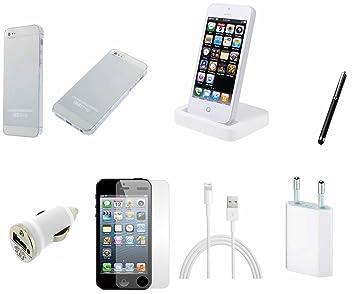 Rhaise 7-en-1 SET de blanco iPhone 5S/5 S/blanco base de ...