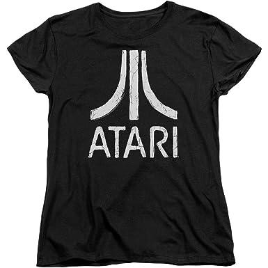Amazon.com  Atari 2600 - Women s T-Shirt Rough Logo  Clothing f28dd65e2c
