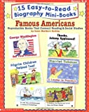 15 Easy-to-Read Biography Mini-Books: Famous Americans (Grades K-2)