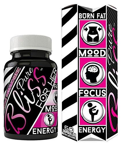 Brûleur de graisse de force maximale Pure Bliss pour femmes augmentation énergie • améliorer Focus • élever humeur • réduire la faim • cibles Belly Fat • Made in USA • végétalien amical