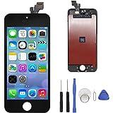 Tech Traders Ecran LCD de rechange pour iPhone 5 avec outils Noir/blanc