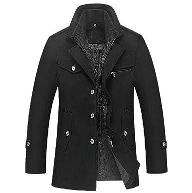 a9dccd9b8818b5 Winter Coat Men Long Wool Overcoat Casaco Palto Jaket Men s Casual Peacoat  Jackets
