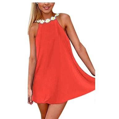 GigaMax(TM) Summer Style Dress Sexy Women Boho Sleeveless Backless Party Beach Dress Chiffon