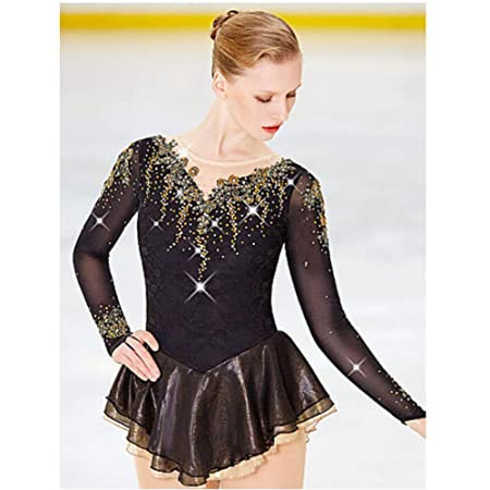 Amazon.com : HUAYANGNIANHAU Figure Skating Dress Girl Woman ...
