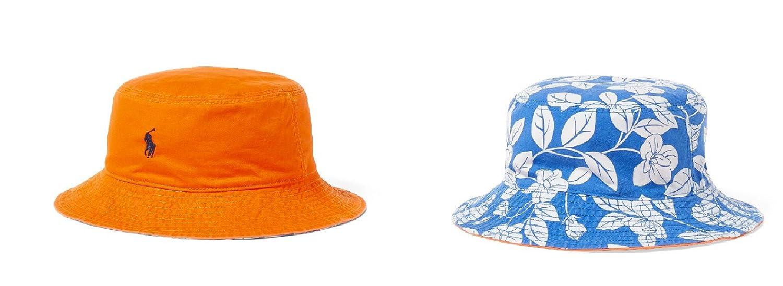 74ec534839c Amazon.com  Polo Ralph Lauren Little Boy s Reversible Twill Bucket Hat Size  4-7  Clothing