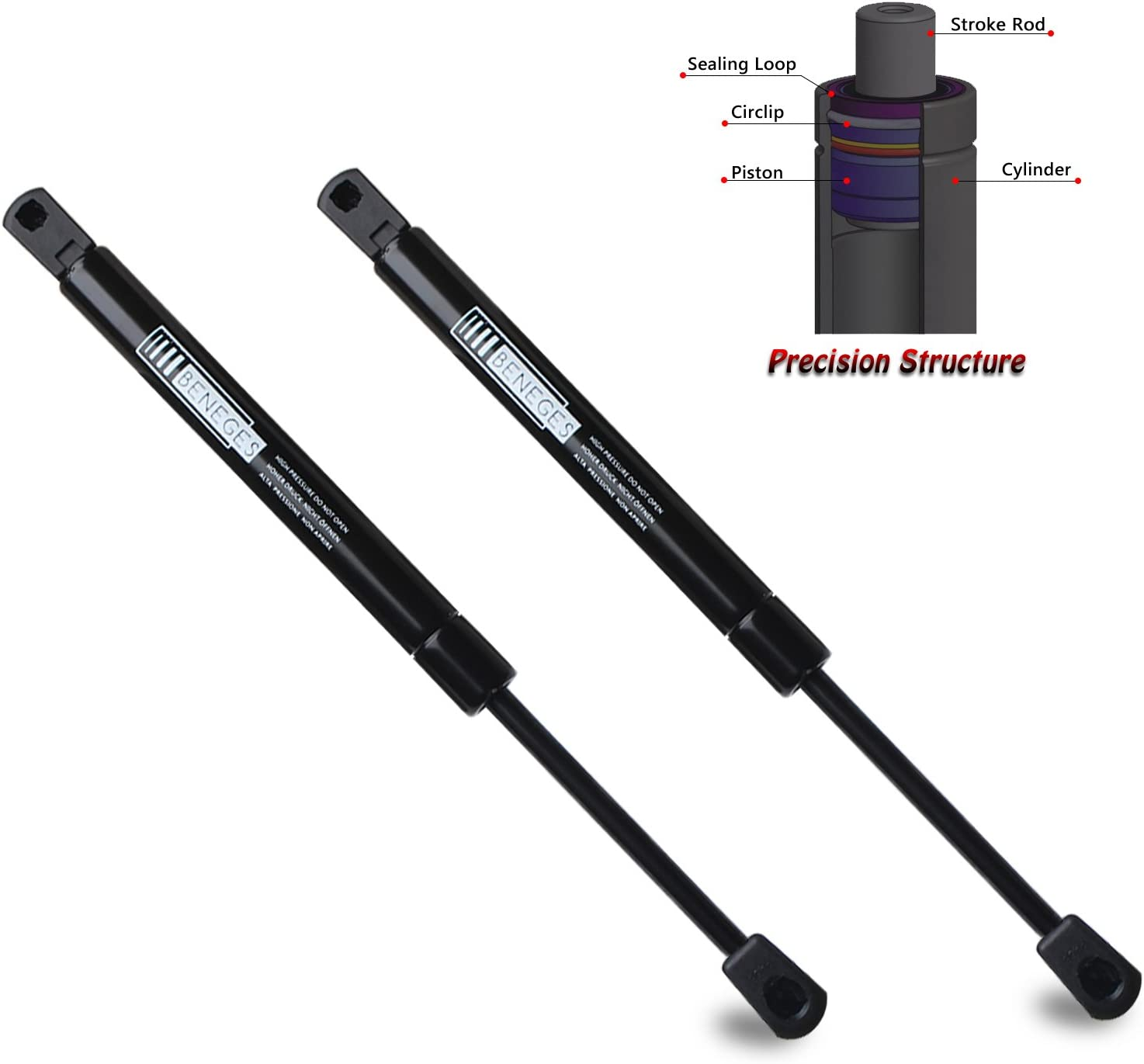 Beneges 2PCs Front Hood Lift Supports Compatible with 1997-2002 Ford Expedition 1997-1999 Ford F-250//F-250 XLT Hood Struts Shocks 1997-2004 Ford F-150// F-150 XLT