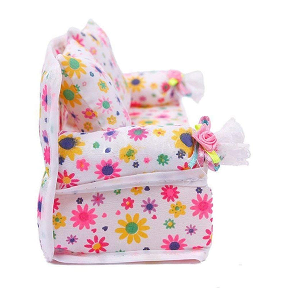 Hilai Mini Muebles Sofá de Flores + 2 Cojines para casa de muñecas Barbie: Amazon.es: Productos para mascotas