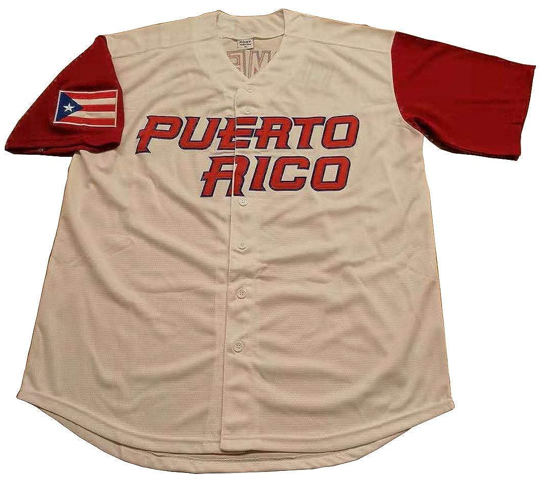 Roberto Clemente #21 Puerto Rico World Classic Baseball Jersey Men