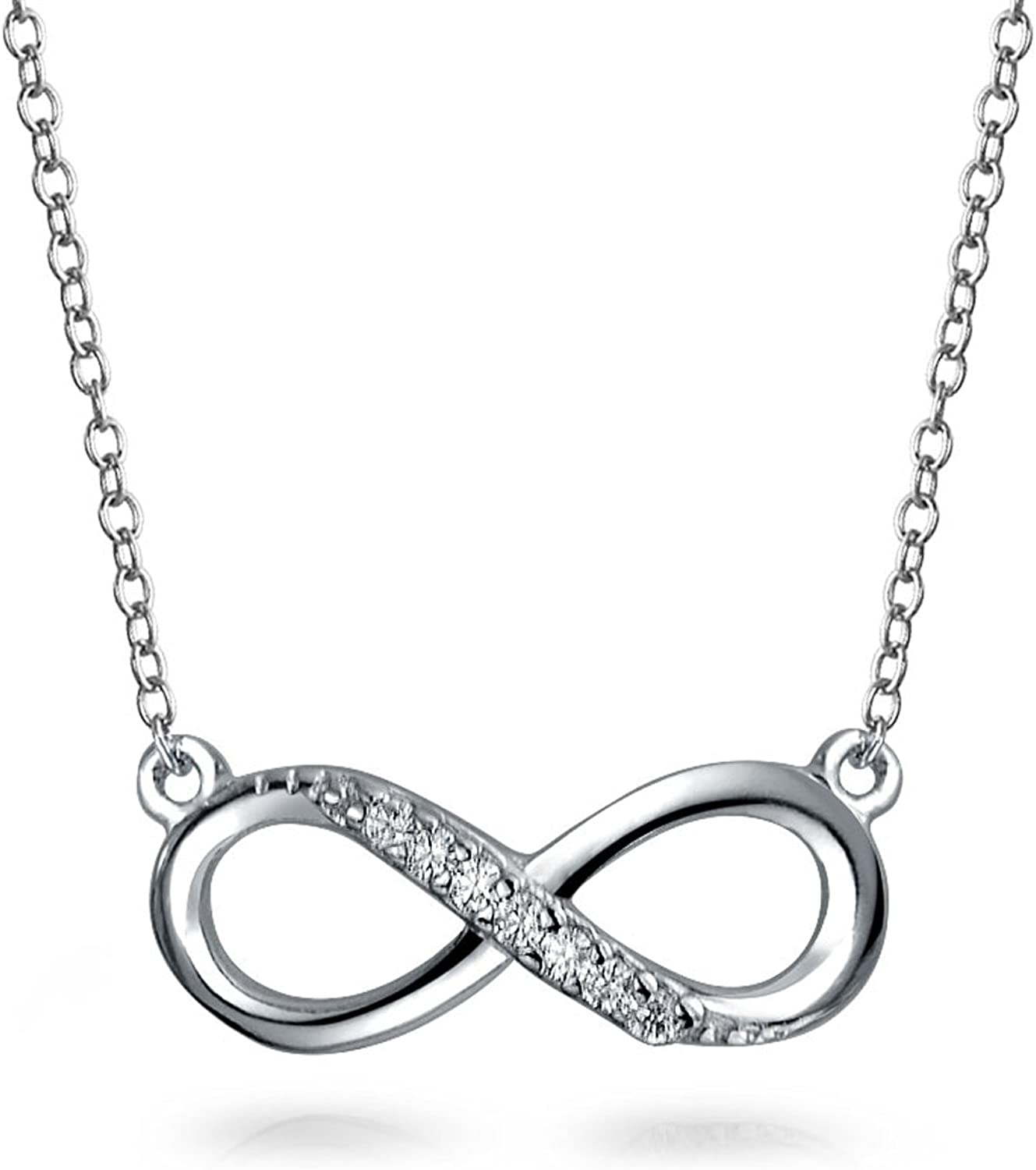 Infinity Necklace Forever Love 925 Sterling Silver Plated For Couples Women Girl