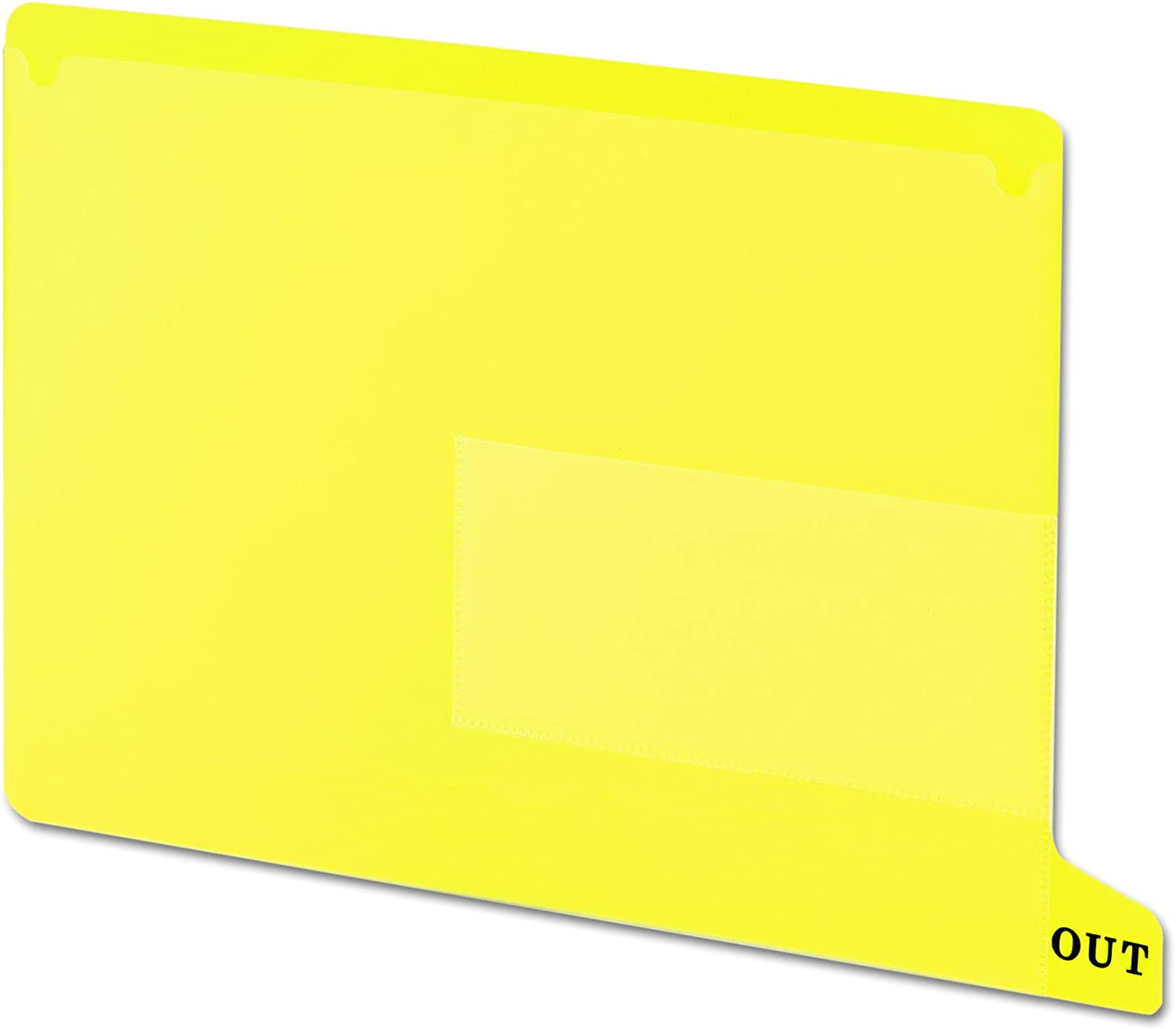 Smead/® Colored Poly Outguides with Pockets OUTGUIDE,END//TAB,VYL,RD Pack of2