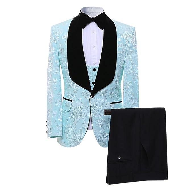 Amazon.com: Cloud Style para hombre traje Slim Fit 2 piezas ...