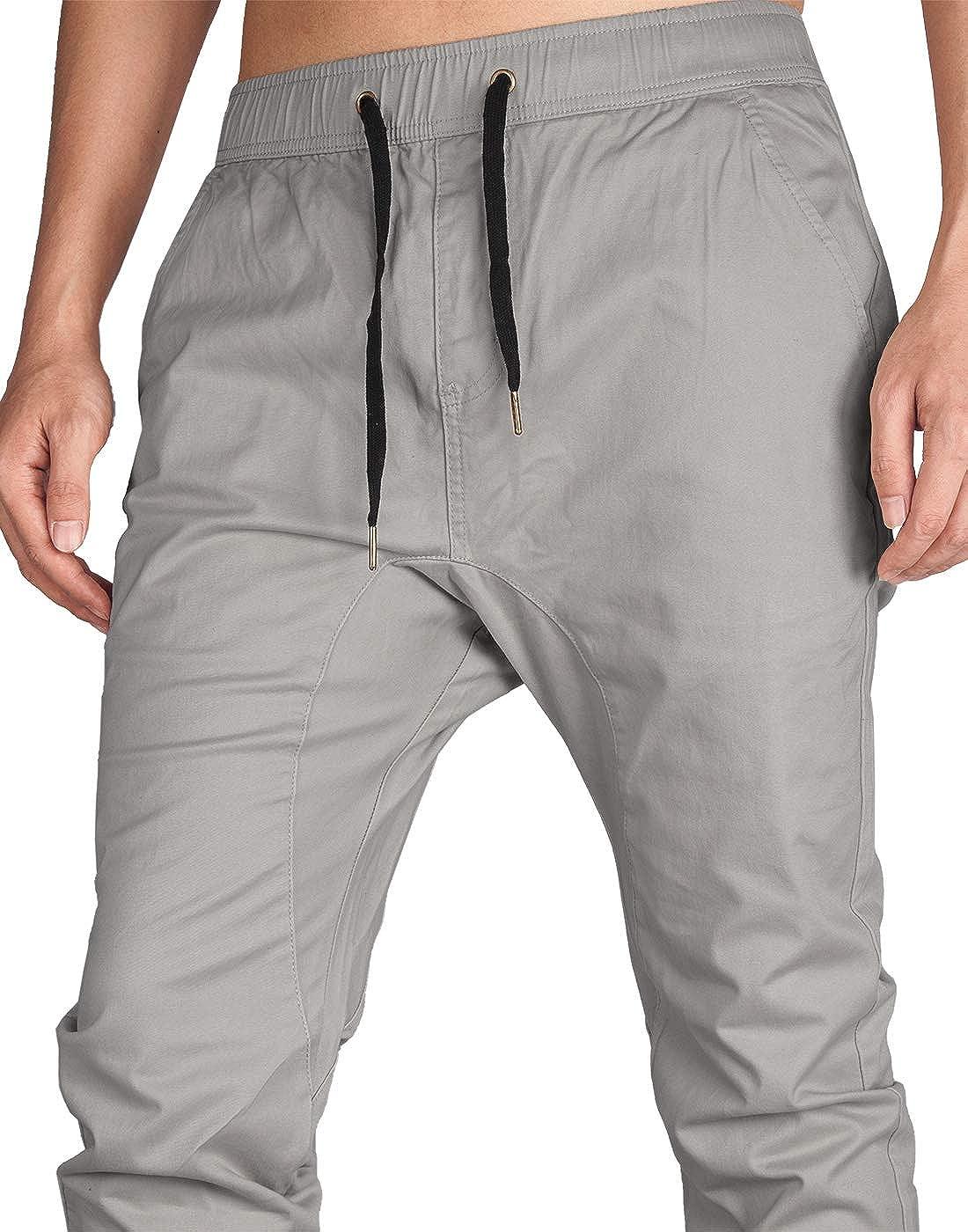 ITALY MORN Pantal/ón Jogger Slim Fit para Hombre Casual Chino Jogging Algod/ón