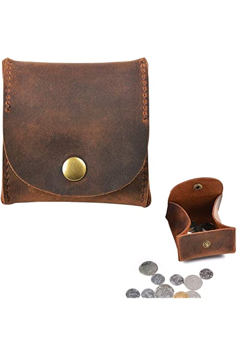 Gents\Ladies Coin Pouch Tray Wallet Notes Purse Change High Quality Real Leather