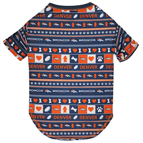 NFL Denver Broncos Dog Ugly Tee Shirt, Small.