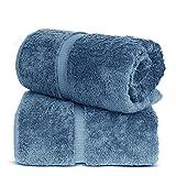 TURKUOISE TURKISH TOWEL % 100 Turkish Cotton Luxury and Super Soft Bath Sheets, 35x70 Inches (Wedgewood)