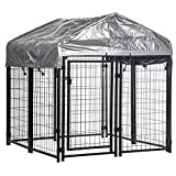 OutDoor Heavy Duty Playpen Welded Dog Kennel Water Resistant Cover x 4.4' + FREE E-Book