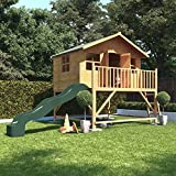 BillyOh Lollipop Max Tower Childrens Wooden Playhouse Including Slide 6x7