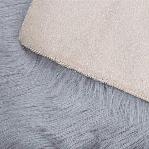 Amazon.com: YLXD - Alfombra de piel de oveja sintética ...